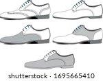 formal footwear pack  vector...   Shutterstock .eps vector #1695665410