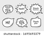 comic chat bubbles. save 75  ... | Shutterstock .eps vector #1695693379
