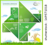 infographic ecology template... | Shutterstock .eps vector #169571018