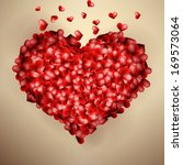 valentines heart template card.  | Shutterstock .eps vector #169573064