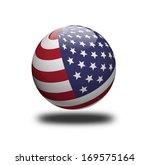 usa flag sphere isolated on... | Shutterstock . vector #169575164