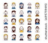 bundle of people group... | Shutterstock .eps vector #1695759493