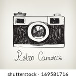 Vector Retro Hand Drawn Hipster ...