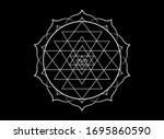 mystical mandala of sri yantra...   Shutterstock .eps vector #1695860590