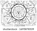 ouija magic spiritual board...   Shutterstock .eps vector #1695878539