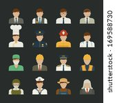 professions icons   worker set  ...   Shutterstock .eps vector #169588730