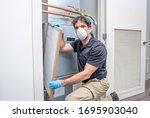 Hvac Contractror Wearing A...