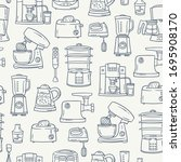 vector pattern on the theme of... | Shutterstock .eps vector #1695908170