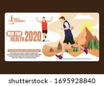 running men and women sports... | Shutterstock .eps vector #1695928840