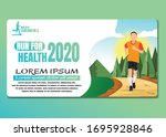 running men and women sports... | Shutterstock .eps vector #1695928846