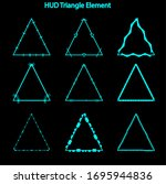 set of hud triangle elements...