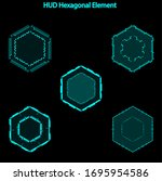 set of hud hexagon elements...