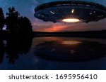 Ufo  An Alien Plate Hovering...