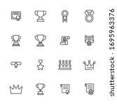 award line icons set. stroke... | Shutterstock .eps vector #1695963376