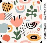 seamless abstract pattern....   Shutterstock .eps vector #1695965446