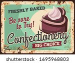 pastry cakes and confectionery...   Shutterstock .eps vector #1695968803