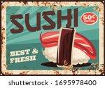 Sushi  Japanese Cuisine Vector...