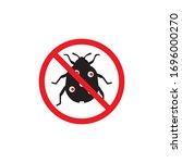 bug vector illustration icon...