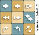 arrow sign icon set. raster...