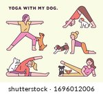 Yoga With Dog. Funny Moment....
