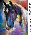 Original Pastel Painting.horse...