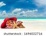 Beach Bag Hat And Starfish At...