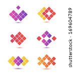 set of vector colorful abstract ... | Shutterstock .eps vector #169604789