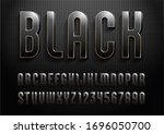 3d dark font with golden streak ... | Shutterstock .eps vector #1696050700