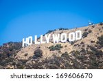 famous hollywood landmark in... | Shutterstock . vector #169606670