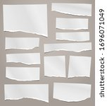 torn of white note  notebook... | Shutterstock .eps vector #1696071049
