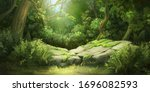 Deep Forest. Fantasy Backdrop....