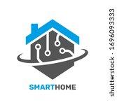smart house logo. digital...   Shutterstock .eps vector #1696093333