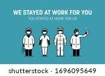 frontliners doctor  nurse ... | Shutterstock .eps vector #1696095649