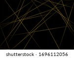 abstract black with gold lines  ... | Shutterstock .eps vector #1696112056