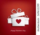 valentine's day concept... | Shutterstock .eps vector #169611299