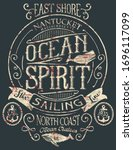 vintage ocean spirit adventure...   Shutterstock .eps vector #1696117099