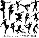 a set of men and women street... | Shutterstock .eps vector #1696118323