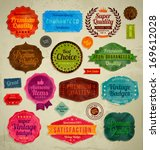 retro vintage badges | Shutterstock .eps vector #169612028