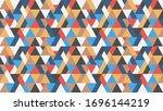 seamless geometric triangles... | Shutterstock .eps vector #1696144219