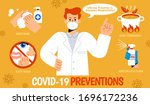a professional doctor demoing... | Shutterstock .eps vector #1696172236