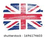 vintage uk flag in grunge style. | Shutterstock .eps vector #1696174603