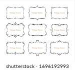 hand drawn set of decorative... | Shutterstock .eps vector #1696192993