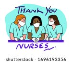 thank you doctor and nurses and ... | Shutterstock .eps vector #1696193356