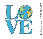 love earth logo   text quotes...   Shutterstock .eps vector #1696205449