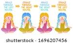 cute vector pranayama...   Shutterstock .eps vector #1696207456