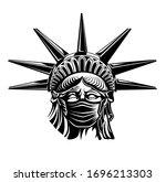 statue of liberty resists...   Shutterstock .eps vector #1696213303