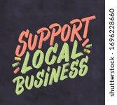 support local business. vector...   Shutterstock .eps vector #1696228660
