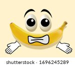 Photo of a banana and eggs on a ...