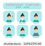 coronavirus symptoms 2019 ncov. ... | Shutterstock .eps vector #1696259140