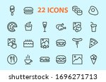 a simple set of fast food... | Shutterstock .eps vector #1696271713